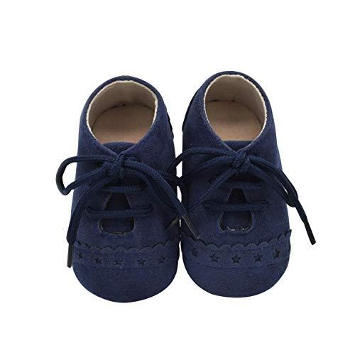 DEBAIJIA Weiches Leder Baby Jungen Mädchen Schuhe Wildleder Kleinkinder Schuhe Rutschfeste Mode Lässig Prewalker Schuhe Geeignet für 6-18 Monate Kleinkind Slip-On-Verschluss -