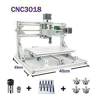 TopDirect CNC Fräsmaschine, Arbeitsbereich: 300 * 180 * 45mm, DIY CNC Router Maschine 3 Achsen Mini Holz PCB Acryl Fräsmaschine Metall Gravur Carving Maschine
