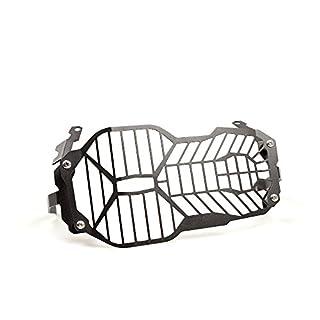 R1200GS R1250GS Motorrad Seitenmontage Scheinwerfer Grill Headlight Cover Mask für R 1250 GS 2019 R 1200 GS LC ADV Adventure 2013 2014 2015 2016 2017 2018(Schwarz)