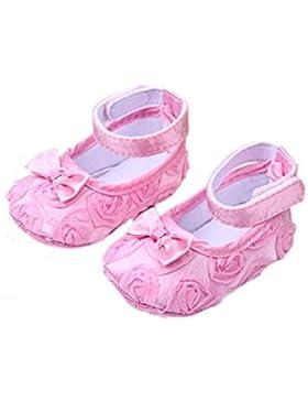 Zapatos - SODIAL(R)zapatos comodos de nino pequeno de princesa antideslizantes(6-12 meses, rosado)