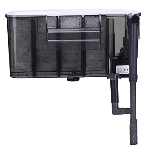 Aquarium Aussenfilter Aquarium Aufhängefilter Hang On Filter Wandmontage 3 in 1 Filtersystem Filter für Aquarium Aquarien(EU Plug)