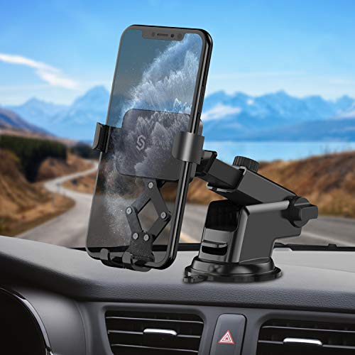 Syncwire Handyhalter Auto Handyhalterung KFZ - 360 Grad Drehung 4,7-6,5 Zoll Handy Saugnapf Halter Smartphone Halterung Car Handyhalterungen Autohalterung Holder für iPhone Samsung Huawei mehr Phones