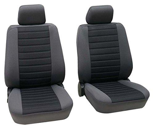Preisvergleich Produktbild Sitzbezug Schonbezug Autositzbezug, Vordersitzbezüge, Opel Corsa, Schwarz, Grau