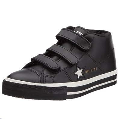 Converse One Star 3 Velcro Mid, Baskets mode mixte enfant - Noir, 33 EU