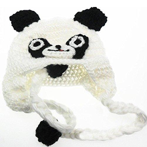 Hrph Mode Baby-Kleinkind -Kinder Panda Muster gestrickt HäkelarbeitBeanie -