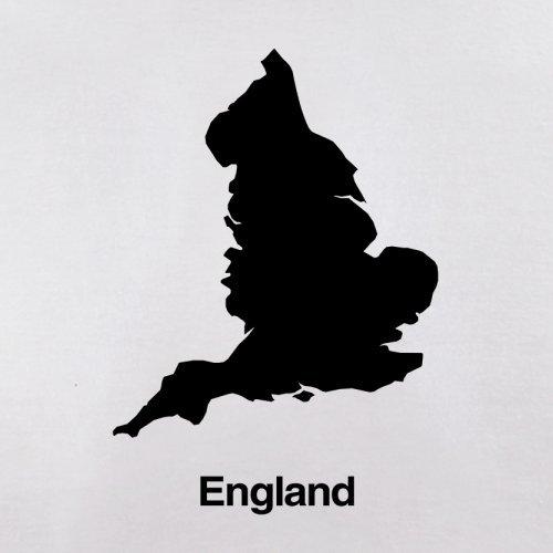 England Silhouette - Herren T-Shirt - 13 Farben Weiß