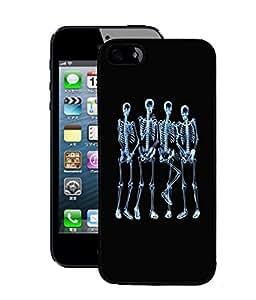 Fuson 2D Printed Skeleton Designer Back Case Cover for Apple iPhone 5 - D659