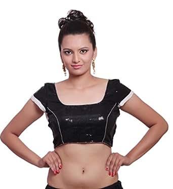 Inblue Fashions Black Sequined Blouse