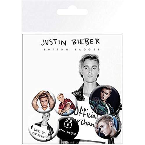 Justin Bieber GB Eye Poster, Mix 2, Button-Set,