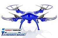 Syma X5SC 2.4G Quadcopter with 2MP 720P HD Camera - Tenergy Thunder Blue Color Deluxe Package with Additional Accessories