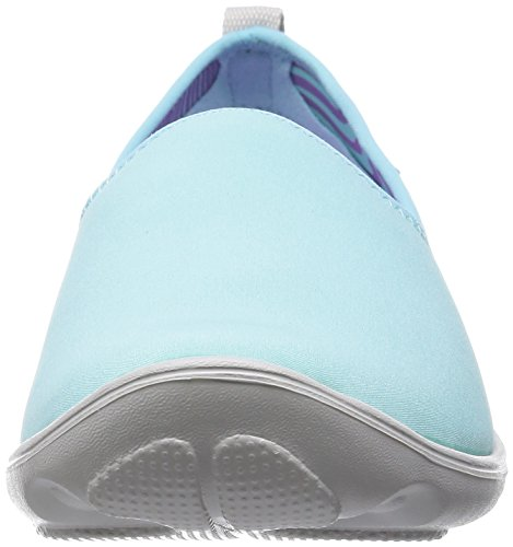 Crocs - Duet Busy Day Skimmer, Scarpe chiuse Donna Blu (Ice Blue/Pearl White)
