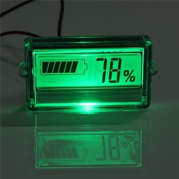 Waterproof LCD Battery Capacity Tester Indicator 12V Lead-acid Lithium -