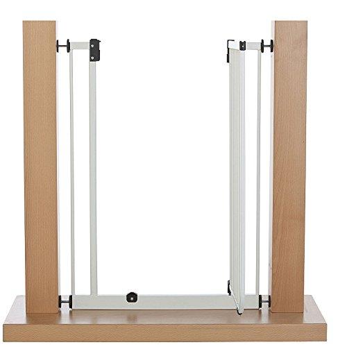 Impag Extrahoch 107 cm Tür- und Treppenschutzgitter 73 – 142 cm selbstschließend, ideal für große Menschen – zum Klemmen – ohne Bohren Easystep + 20 - 5