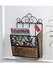 Onlineshoppee Soltero Revista Wall Mount Shelf (Black and Brown)