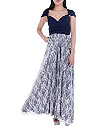 Womens Bridesmaids Elegant Infinity Convertible Wrap Dress Long Maxi Gown Lace Spliced Cocktail Evening Prom Dress