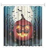 Bishilin Bad Vorhang für Badezimmer Halloween Anti Schimmel Duschvorhang Waschbar Polyester-Stoff 165x180 cm