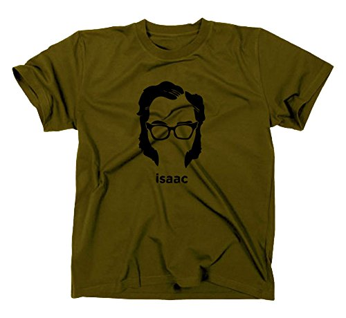 Isaac Asimov T-Shirt, Foundation, Roboter, android, science fiction, XL, oliv (T-shirt Android)
