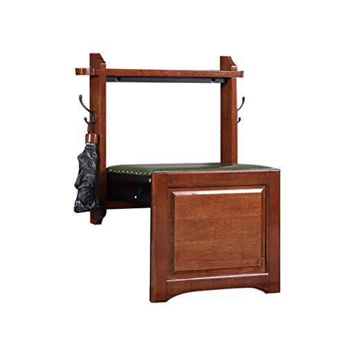 ALUK- small stool Klappbare Schuhbank, Wandmontierter Schuhstuhl, Wandmontierter Fußhocker, Ultradünne Massivholzschuhbank, Super-Gewicht, 180kg