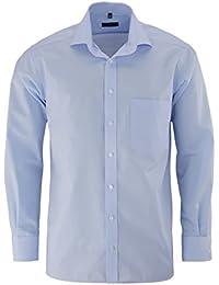 eterna Langarm Hemd Comfort Fit Popeline Unifarben