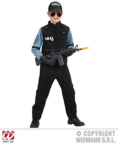 Fbi Jungen Für Kostüm (KINDERKOSTÜM - S.W.A.T. - Größe 140 cm, Uniformen CIA FBI Spezialeinheiten Spezial)