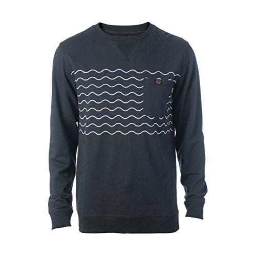 Herren Sweater Rip Curl Wavy Party Crew Sweater Black