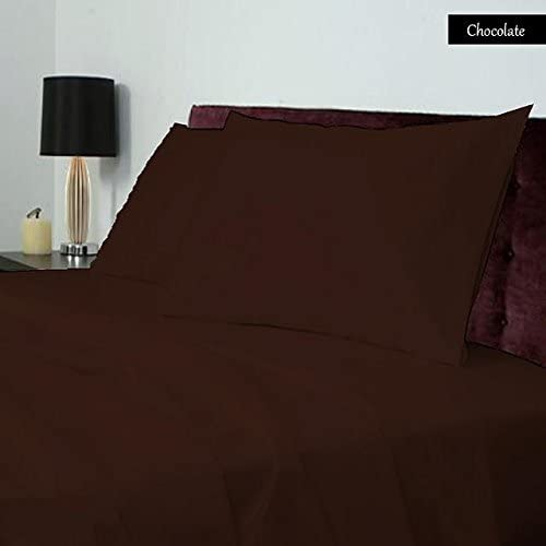 100% Coton égyptien 400 TC 1 pièce pièce pièce Drap-Housse 38 cm Poche Profonde suppléHommes taire Euro King IKEA Taille Chocolat Couleur Solide Motif 032f79