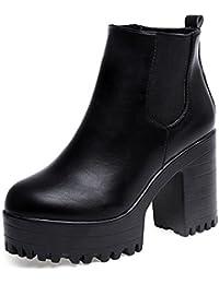 Vovotrade Donne Stivali in pelle della coscia stivali alti pompano i pattini
