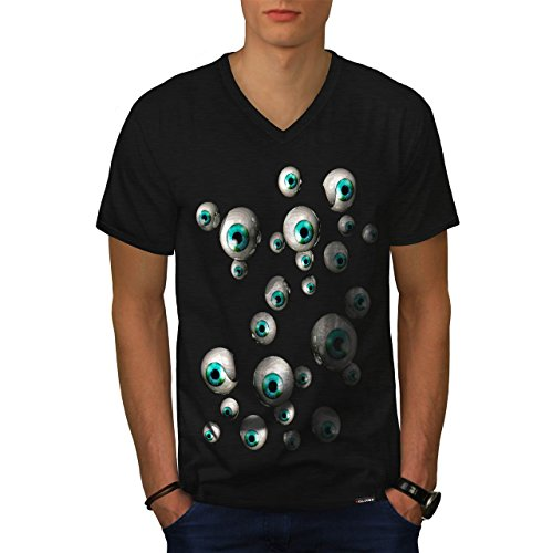 Mehrere Augapfel Spaß Mensch Schau Herren NEU Schwarz XL T-shirt | Wellcoda (Mehrere Menschen Kostüm)