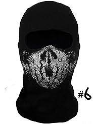 Call Of Duty Ghost Fantasma Máscara Protege Cara Cuello Anti-frío Ideal para MOTO BICI SKI Cosplay (Color #6)
