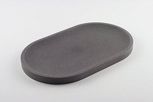 plateau-en-bton-anthracite-clair-ovale