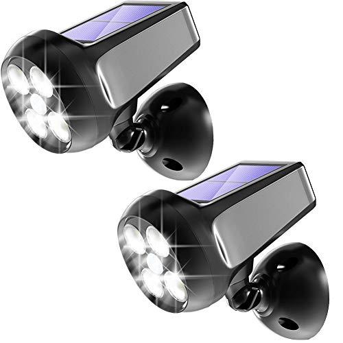 chten Outdoor, 360°Einstellbare Helle Drahtlose Sicherheit Bewegungsmelder Licht, IP65 Wasserdichte Spotlicht Wandleuchte Strahler Für Garage,Garten(2 STK) ()