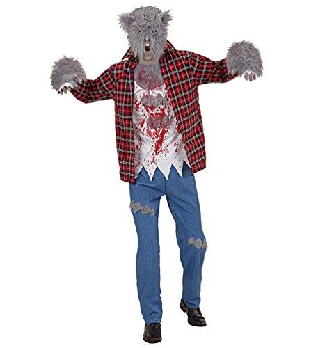 Karneval-Klamotten Werwolf-Kostüm Herren mit Werwolf Maske Halloween Herrenkostüm Größe 50 (Werwolf Kostüm Herren)
