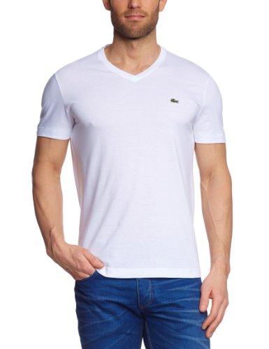 Lacoste Herren TH2036-00 T-Shirt, Weiß (White 001), X-Small (Herstellergröße: 2) - Lacoste Klassisches Polo-shirt