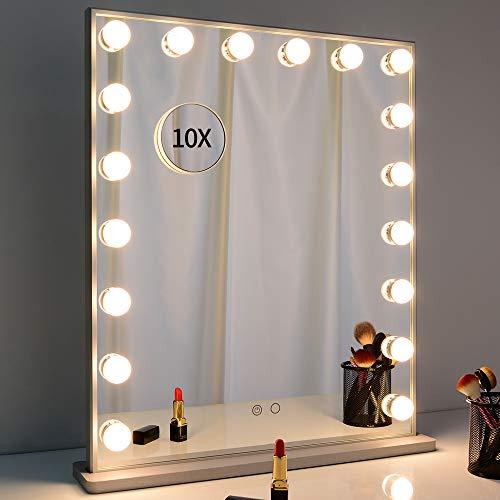 WONSTART Espejo Maquillaje con luz Hollywood Mirror, Espejo de Maquillaje Grande con Luces LED Ajustables...