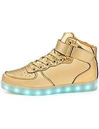 Kind Baby Mädchen LED blinkende Sport Anti-Rutsch-Casual Tanzen Glow Schuhe DE