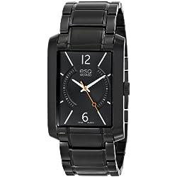 ESQ 7301411 30mm Black Steel Bracelet & Case Mineral Men's Watch