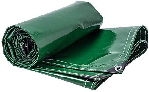 JYFSYB - Telo di Copertura Impermeabile per Tenda da Campeggio, Amaca, Piscina, Giardino, Auto, Moto, Barca, in PVC, 400 gsm, Colore: Verde, 4mx6m