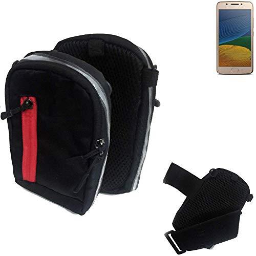 K-S-Trade Outdoor Gürteltasche Umhängetasche für Lenovo Moto G5 Single-SIM schwarz Handytasche Case travelbag Schutzhülle Handyhülle