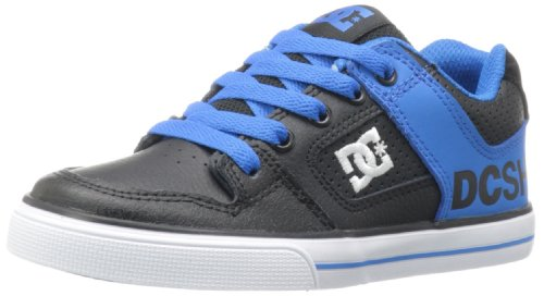 DC Shoes Pure, Baskets mode garçon Noir (Bk/Bl Atll)