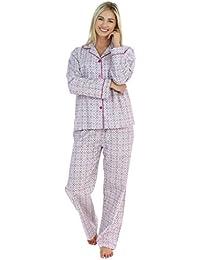 PajamaMania Women s Sleepwear Cotton Flannel Long Sleeve Pyjama Set 5bc5fcdaf