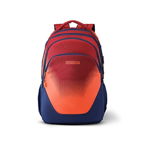 American Tourister Trivo 31 Ltrs Red/Blue Casual Backpack (Fi6 (0) 00 002)