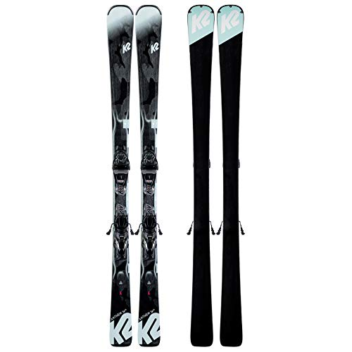 K2 Skis Damen Anthem 74 ER3 10 COMPACT QUIKCLIK Black - Seafoam Set Ski Bindung, Design, 153 -