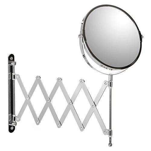 TATAY 4440300 - Espejo de Maquillaje extensible con aumento x5. Espejo de pared extensible, 18.5 x 15...