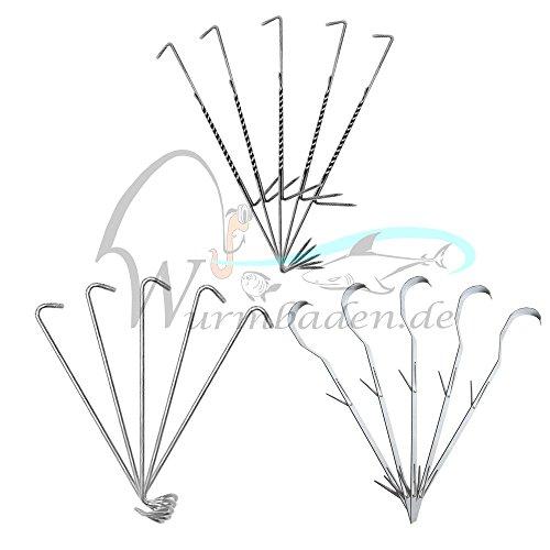 5 Räucherhaken Doppelhaken im Set Räucher Zubehör Haken Fischhaken Fische Räuchern - 3 Hakensorten zur Auswahl