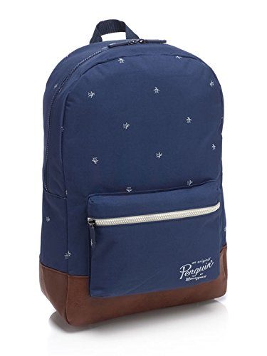 original-penguin-all-over-penguin-print-back-pack-herren-schultertasche-blau-blau-braun