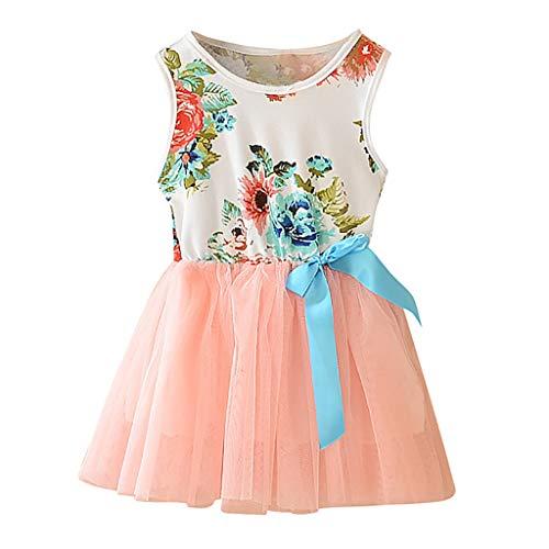 nd-Baby-Blumenärmelloses Rock-Bogen-Noppe-Rock-Kleid-Ausstattungs-Set Beleuchtetes Ineinander greifenprinzessin-Kleid beiläufiges Kleid ()