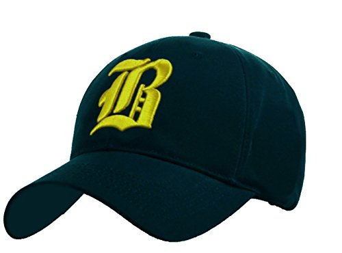 Unisexe Broderie Coton Baseball Cap Garçons Filles Snapback Hip Hop Flat Hat Bonnet Garçon Fille Enfants Chapeau Bonnet Unisexe navy blue B neo yellow