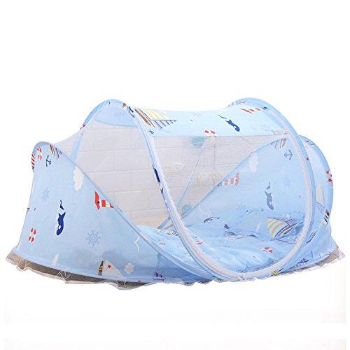 Baby Bett Portable Falten Moskitonetz Zelt Matratze Bett Kinderbett Vordach im Freien mit Polster & Music Pack 0~3 Jahre neue