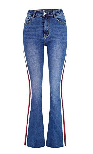 iRachel Women's Sexy High Waisted Slim Bootcut Stretch Jeans Pants High Waisted Bootcut Jeans