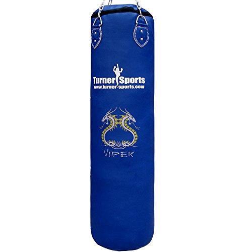 TurnerMAX-Punch-Bag-Set-Filled-Boxing-Bag-Gloves-Ceiling-Hook-Swivel-Chain-MMA-Punchbag-Black